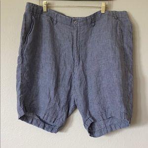 BOGO Saks Fifth Avenue Grey Linen Shorts